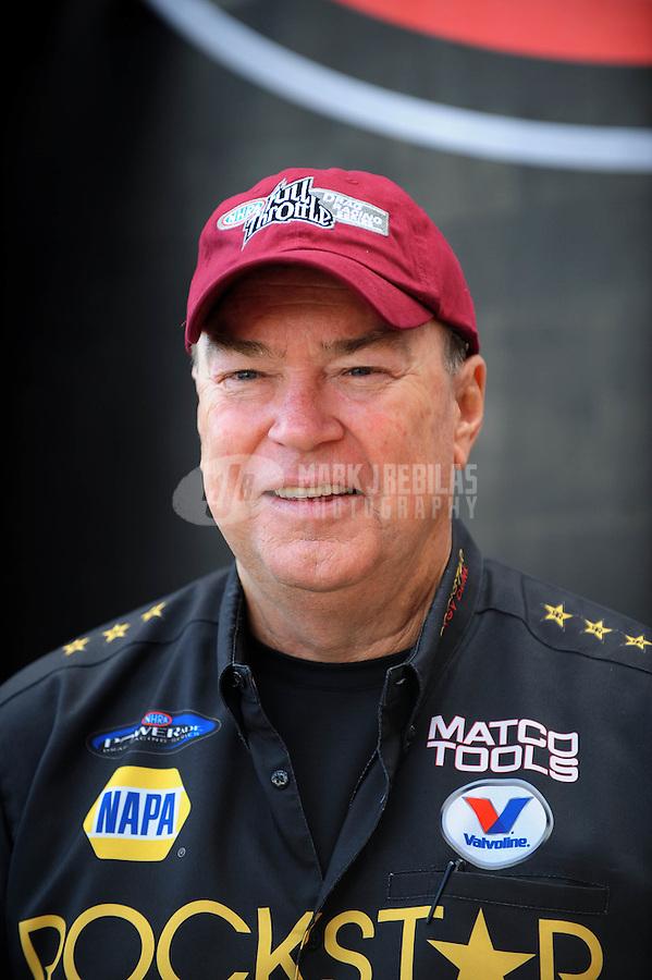Nov. 2, 2008; Las Vegas, NV, USA: NHRA funny car driver Jerry Toliver during the Las Vegas Nationals at The Strip in Las Vegas. Mandatory Credit: Mark J. Rebilas-
