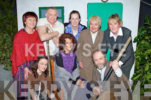 The Spike Island Players from Knocknagoshal get ready for show time last Saturday night in the AJ Stanley play, 'Troubled Batchelors' pictured f l-r: Aoife Roche, Josephine Roche, Chris Collins. B l-r: Marian Leahy, Berty Hickey, Noreen O'Callaghan, Lesley Collins and Lilly Stack Doody.