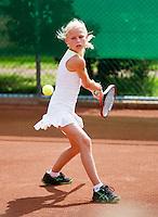 06-08-12, Netherlands, Tennis, Hillegom, NJK, Flo Vos  Annick Verhaar