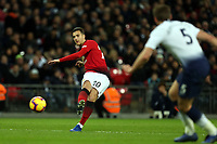 Diogo Dalot of Manchester United and Jan Vertonghen of Tottenham Hotspur during Tottenham Hotspur vs Manchester United, Premier League Football at Wembley Stadium on 13th January 2019