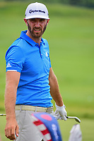 Proud new father, Dustin Johnson (USA) on the practice tee during the Wednesday practice day of the 117th U.S. Open, at Erin Hills, Erin, Wisconsin. 6/14/2017.<br /> Picture: Golffile | Ken Murray<br /> <br /> <br /> All photo usage must carry mandatory copyright credit (&copy; Golffile | Ken Murray)