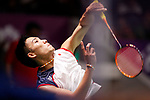 Kento Momota (JPN), <br /> AUGUST 24, 2018 - Badminton : <br /> Men's Singles Round 32 <br /> at Gelora Bung Karno Istora <br /> during the 2018 Jakarta Palembang Asian Games <br /> in Jakarta, Indonesia. <br /> (Photo by Naoki Morita/AFLO SPORT)