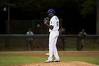 AZL Dodgers relief pitcher Jeronimo Castro (61) looks in for the sign during an Arizona League game against the AZL White Sox at Camelback Ranch on July 3, 2018 in Glendale, Arizona. The AZL Dodgers defeated the AZL White Sox by a score of 10-5. (Zachary Lucy/Four Seam Images)