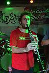 Kaohsiung, Taiwan -- Manu Brotte of LA CUMBIA DEL SOL on clarinet.