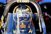Jan 24, 2009; Chandler, AZ, USA; NHRA top fuel dragster driver Tony Schumacher during testing at the National Time Trials at Firebird International Raceway. Mandatory Credit: Mark J. Rebilas-