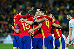 Spain's Dani Carvajal Aritz Aduriz Isco Nacho Monreal  during the match of European qualifying round between Spain and Macedonia at Nuevo Los Carmenes Stadium in Granada, Spain. November 12, 2016. (ALTERPHOTOS/Rodrigo Jimenez)