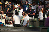 LONDON, ENGLAND - JULY 06: Cara McConnell, Olivia Munn and Alexis Ohanian attend day five of the Wimbledon Tennis Championships at the All England Lawn Tennis and Croquet Club on July 6, 2018 in London, England.<br /> CAP/MPI122<br /> &copy;MPI122/Capital Pictures