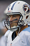 Tennessee Titans' quarterback Matt Hasselbeck watches the Seattle Seahawks offense in a pre-season game at CenturyLink Field in Seattle, Washington on August 11, 2012. ©2012. Jim Bryant Photo. All Rights Reserved...