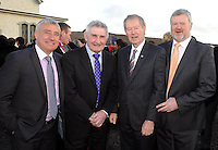18-01-2013: Kerry GAA legends Ogie Moran, Mick O'Dwyer, Micheal O'Muircheartaigh and Eoin Bomber Liston at the wedding of Kerry footballer  Kieran Donaghy and  Hilary Stephenson at St. Finan's Church, Waterville on Friday. Picture: Eamonn Keogh ( MacMonagle, Killarney)
