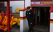 18th March 2018, Fir Park, Motherwell, Scotland; Scottish Premiership football, Motherwell versus Celtic;  Jack Hendry wraps up at a very cold Fir Park