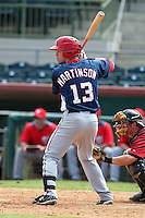 Washington Nationals shortstop Jason Martinson #13 during an Instructional League game against the Houston Astros at Osceola County Stadium on September 26, 2011 in Kissimmee, Florida.  (Mike Janes/Four Seam Images)