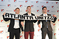 Philadelphia, PA - Thursday January 19, 2018: Gordon Wild, Julian Gressel, Oliver Shannon during the 2018 MLS SuperDraft at the Pennsylvania Convention Center.