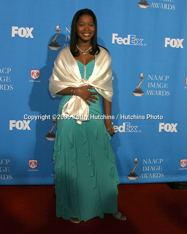 Keke Palmer.37th NAACP Image Awards.Shrine Auditorium.Los Angeles, CA.February 25, 2006.©2006 Kathy Hutchins / Hutchins Photo....                 V