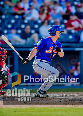 7 March 2019: New York Mets outfielder Braxton Lee at bat during a Spring Training Game against the Washington Nationals at the Ballpark of the Palm Beaches in West Palm Beach, Florida. The Nationals defeated the visiting Mets 6-4 in Grapefruit League, pre-season play. Mandatory Credit: Ed Wolfstein Photo *** RAW (NEF) Image File Available ***