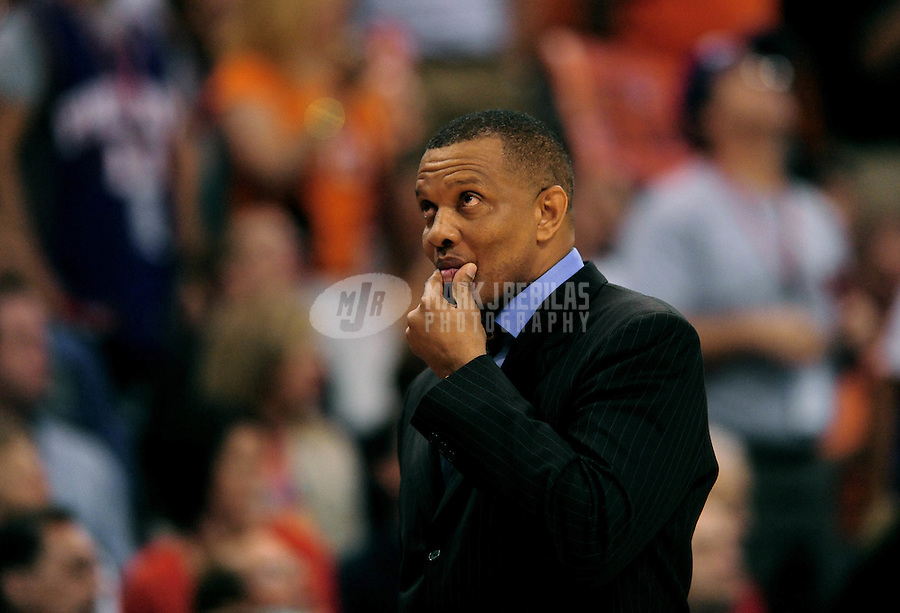 May 5, 2010; Phoenix, AZ, USA; Phoenix Suns head coach Alvin Gentry against the San Antonio Spurs in game two in the western conference semifinals of the 2010 NBA playoffs at the US Airways Center. The Suns defeated the Spurs 110-102. Mandatory Credit: Mark J. Rebilas-