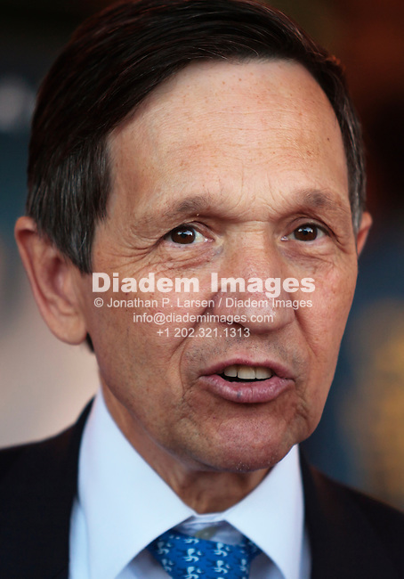 WASHINGTON, DC - JUNE 20:  Ohio Congressman Dennis Kucinich answers an interview question at the Washington, DC premiere of Michael Moore's film Sicko at the Uptown Theater on June 20, 2007 in Washington, DC.  (Photography by Jonathan Paul Larsen)