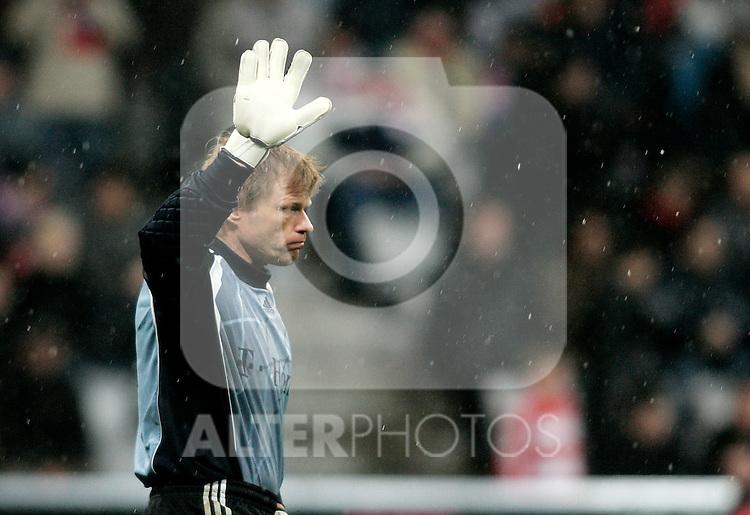 Bayern Munich's Oliver Khan during UEFA Cup match, April 03, 2008. (ALTERPHOTOS/Alvaro Hernandez)