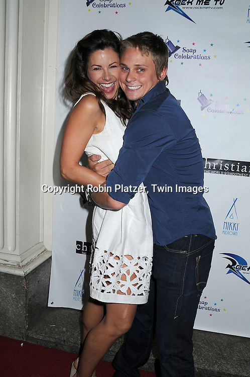 Marie Wilson and Billy Magnussen of As The World Turns.at The 19th Annual Marcia Tovsky Pre-Daytime Emmy Party on June 11, 2008 at Nikki Midtown in New York City. ..Robin Platzer, Twin Images