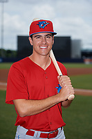 Clearwater Threshers left fielder Adam Haseley (17) poses for a photo before a game against the Tampa Tarpons on April 22, 2018 at George M. Steinbrenner Field in Tampa, Florida.  Clearwater defeated Tampa 2-1 (Mike Janes/Four Seam Images)