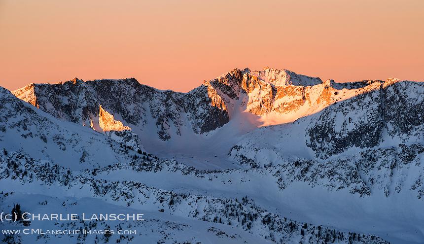 First Light Lone Peak Wilderness