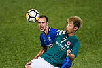 SC Kitchee Defender Krisztin Vadocz (L) in action against Deshuai Xu of Long Lions (R) during the Community Cup match between Kitchee and Eastern Long Lions at Mong Kok Stadium on September 23, 2017 in Hong Kong, China. Photo by Marcio Rodrigo Machado / Power Sport Images