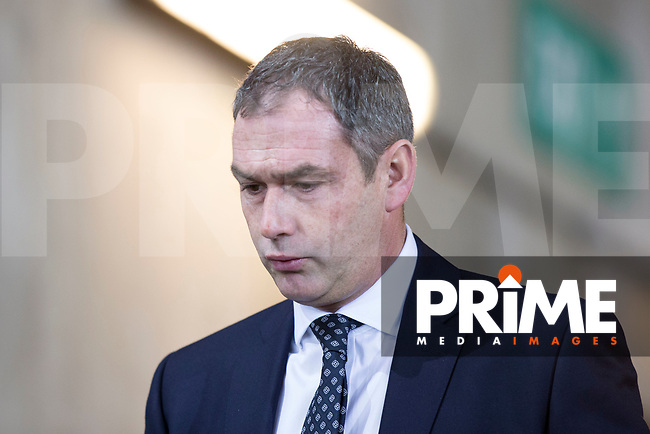 Swansea City head coach Paul Clement arrives ahead of the EPL - Premier League match between Swansea City and Manchester City at the Liberty Stadium, Swansea, Wales on 13 December 2017. Photo by Mark  Hawkins / PRiME Media Images.