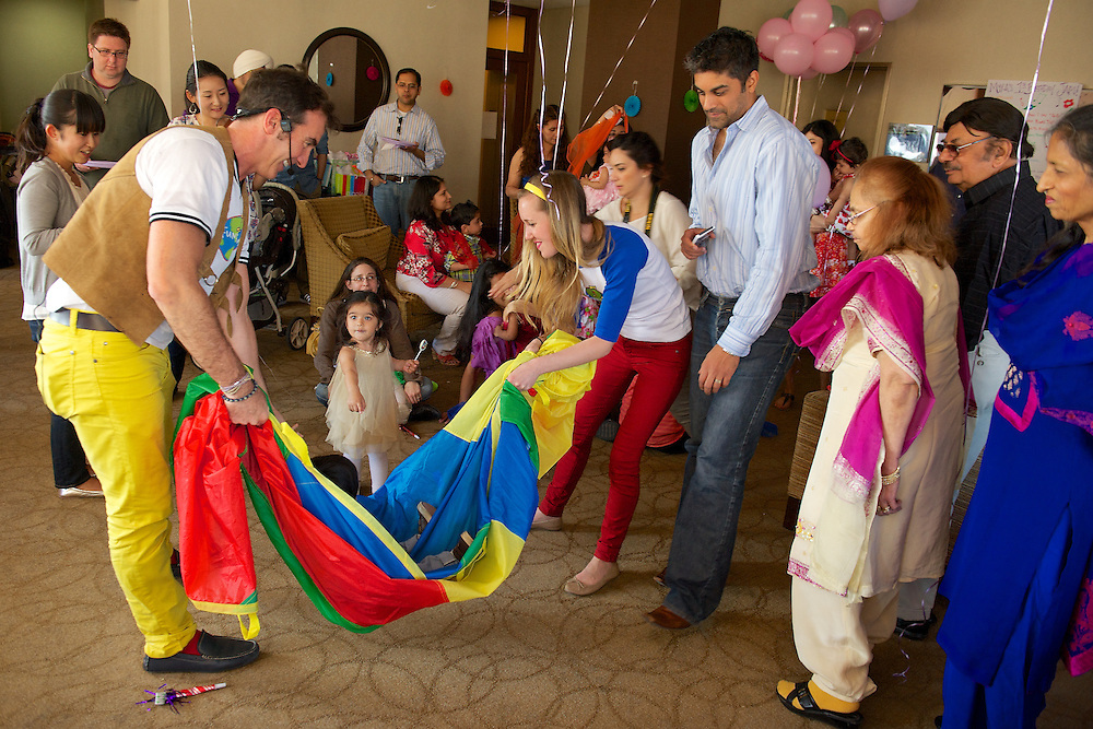 Entertainment at a child's first birthday party