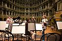 Some components of the Mahler Chamber Orchestra (MCO) before rehearsals at Fraschini Theater, Pavia. © Carlo Cerchioli..Alcuni componenti della Mahler Chamber Orchestra ( MCO ) prima dell'inizio delle prove al teatro Fraschini, Pavia.