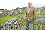 ROSE: Cllr Tommy Foley in Clogherbrien Graveyard, Tralee where the original Rose of Tralee, Mary O'Connor is buried.   Copyright Kerry's Eye 2008