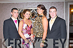 DEBS BALL: Enjoying a great time at the Rathmore Debs at the Earl of Desmond hotel on Friday l-r: Stephen Heelan, Mairead O'Sullivan, Julie McCarthy and Donal Leader.