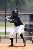 GCL Yankees 2 outfielder Anderson Feliz (30) at bat during a game against the GCL Braves on June 23, 2014 at the Yankees Minor League Complex in Tampa, Florida.  GCL Yankees 2 defeated the GCL Braves 12-4.  (Mike Janes/Four Seam Images)