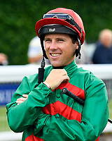Jockey Stevie Donohoe during Evening Racing at Salisbury Racecourse on 3rd September 2019