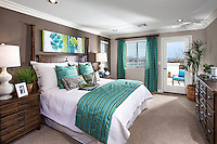 Master Bedroom Two Story Home Stock Photo