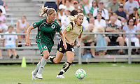 Amanda Cinalli (green), Leslie Osborne...Saint Louis Athletica tied FC Gold Pride 1-1, at Anheuser-Busch Soccer Park, Fenton, MO.