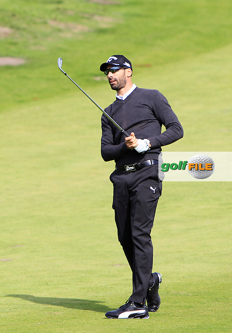 Alvero Quiros (ESP) on the 7th fairway during Round 1 of the 2015 KLM Open at the Kennemer Golf &amp; Country Club in The Netherlands on 10/09/15.<br /> Picture: Thos Caffrey | Golffile