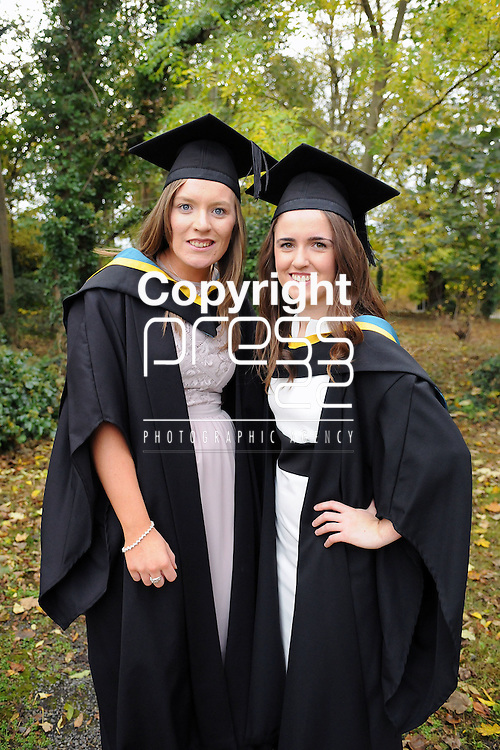 24/10/2014  With Compliments,  Attending the Mary Immaculate College Conferrings were Aisling Rowe, Newross, Wexford and Patricia Dunne, Castletownbere, Cork, who were both conferred with a Bachelor of Education (B.Ed)<br /> Pic: Gareth Williams / Press22