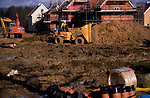 A913M0 New private housing estate being constructed Rendlesham Suffolk England
