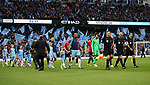 Vincent Kompany of Manchester City leads out the teams before the English Premier League match at The Etihad Stadium, Manchester. Picture date: April 27th, 2016. Photo credit should read: Lynne Cameron/Sportimage