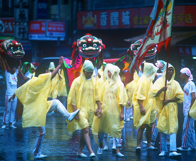 Procession to City God, Cheng Huang's Birthday, Taipei, Taiwan