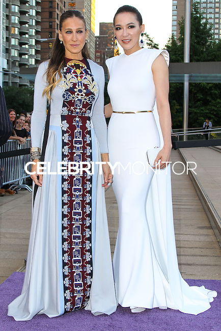 NEW YORK CITY, NY, USA - SEPTEMBER 23: Sarah Jessica Parker and Cindy Chao arrive at the New York City Ballet 2014 Fall Gala held at the David H. Koch Theatre at Lincoln Center on September 23, 2014 in New York City, New York, United States. (Photo by Jeffery Duran/Celebrity Monitor)