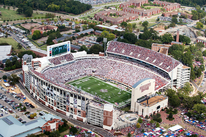 Aerial during the football game vs Auburn. (photo by Beth Wynn / © Mississippi State University)