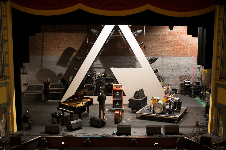 Durham, North Carolina - Thursday May 19, 2016 - Dawn of Midi soundchecks in Fletcher Hall in preparation for their 8 pm show Thursday night for Moogfest in Durham.