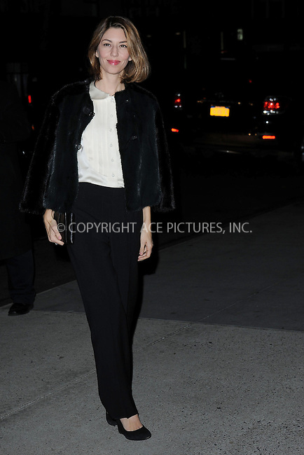 WWW.ACEPIXS.COM<br /> November 5, 2013...New York City<br /> <br /> Sofia Coppola attends The Museum of Modern Art Film Benefit: A Tribute to Tilda Swinton reception at Museum of Modern Art on November 5, 2013 in New York City.<br /> <br /> <br /> Byline: Kristin Callahan/Ace Pictures<br /> <br /> ACE Pictures, Inc.<br /> tel: 646 769 0430<br />       212 243 8787<br /> e-mail: info@acepixs.com<br /> web: http://www.acepixs.com