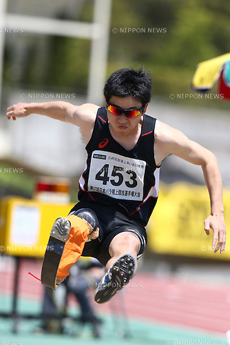 Shota Hineno,<br /> MAY 1, 2016 - Athletics :<br /> Japan Para Athletics Championships<br /> Men's Long Jump T42 Final<br /> at Coca Cola West Sports Park, Tottori, Japan.<br /> (Photo by Shingo Ito/AFLO SPORT)