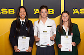 Girls Football finalists Sivithia Boyce, Tessa Berger and Hannah Carlson. ASB College Sport Young Sportsperson of the Year Awards held at Eden Park, Auckland, on November 24th 2011.