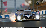 Leading the 24 Hours of Le Mans Sunday Morning, the No. 2 Peugeot 908 Hdi FAP pitches a rod relegating it to DNF. In fact no Peugeot finished the version of the 24 HOurs of Le Mans, leaving the race to the Audi team..