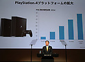 May 23, 2017, Tokyo, Japan - Japan's electronics giant Sony president Kazuo Hirai announces the company's business strategy at Sony headquarters in Tokyo on Tuesday, May 23, 2017. Sony aims at operating profit will be 500 billion yen and ROE 10 percent this year.   (Photo by Yoshio Tsunoda/AFLO) LwX -ytd-