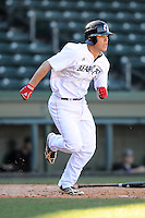 Shortstop Colin Hawk (2) of the Cincinnati Bearcats in a game against the Western Carolina Catamounts on Sunday, February 24, 2013, at Fluor Field in Greenville, South Carolina. Cincinnati won in 10 innings, 7-6. (Tom Priddy/Four Seam Images)
