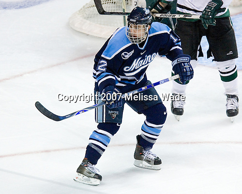 Keith Johnson (University of Maine - Windsor, CT) - The Michigan State Spartans defeated the University of Maine Black Bears 4-2 in their 2007 Frozen Four semi-final on Thursday, April 5, 2007, at the Scottrade Center in St. Louis, Missouri.