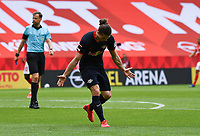 24th May 2020, Opel Arena, Mainz, Rhineland-Palatinate, Germany; Bundesliga football; Mainz 05 versus RB Leipzig; Marcel Sabitzer (RB Leipzig) celebrate his goal for 0:3 in the 36th minute